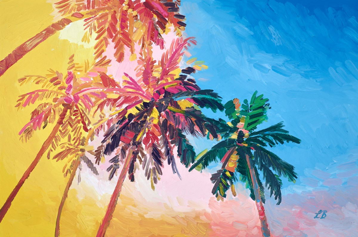 Beneath the Palms by leila barton -  sized 30x20 inches. Available from Whitewall Galleries